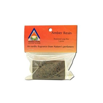 Herbal Vedic Amber Resin Rosewood Box Large 1 Count