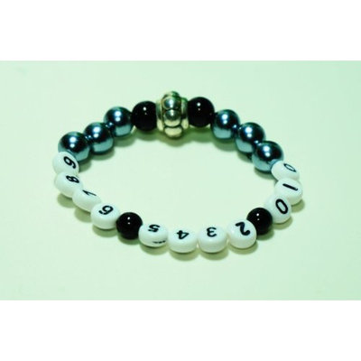 Missing Children Prevention Charm Bracelet with Phone Number (f) - Free Shipping Worldwide!!
