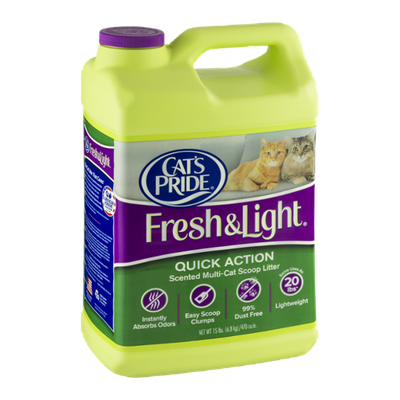 Cat's Pride Fresh & Light Quick Action Scented Multi-Cat Scoop Litter