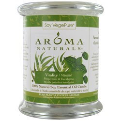 VITALITY AROMATHERAPY by Vitality Aromatherapy ONE 3.7x4.5 inch MEDIUM GLASS PILLAR SOY AROMATHERAPY CANDLE. USES THE ESSENTIAL OILS OF PEPPERMINT & EUCALYPTUS TO CREATE A FRAGRANCE THAT IS STIMULATING AND REVITALIZING. BURNS APPROX. 45 HRS. for UNISEX