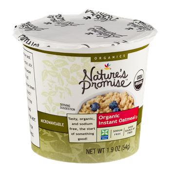 Nature's Promise Organic Instant Oatmeal