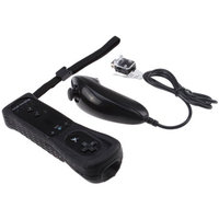 Built-in Motion Plus Remote + Nunchuck Controller For Wii + Silicone Case + Wrist Strap
