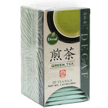 Yama Moto Yama Yamamotoyama Green Tea Decaf Tea Bags, 20ct, (Pack of 6)