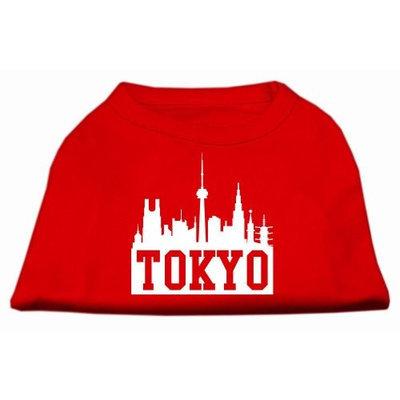Mirage Pet Products 5175 XXLRD Tokyo Skyline Screen Print Shirt Red XXL 18