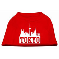 Mirage Pet Products 5175 XXXLRD Tokyo Skyline Screen Print Shirt Red XXXL 20