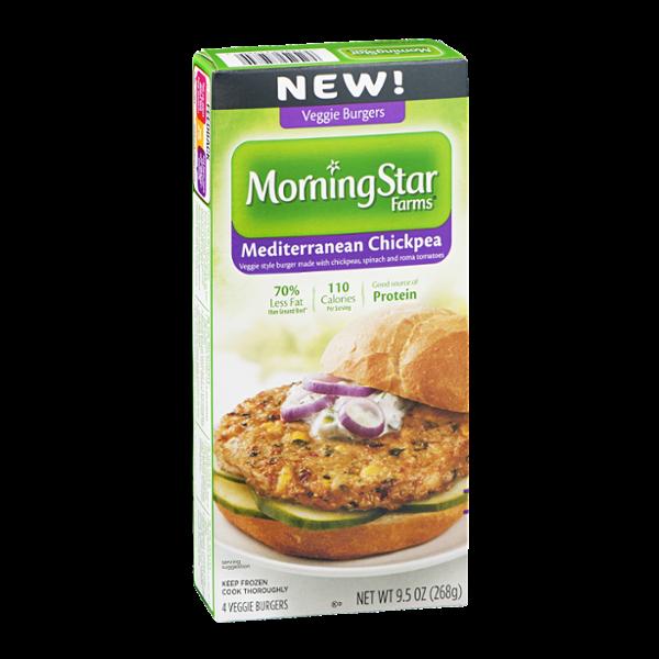 MorningStar Farms Veggie Burgers Mediterranean Chickpea - 4 CT