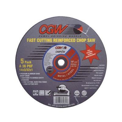 CGW Abrasives Type 1 Cut-Off Wheels, Chop Saws - 14