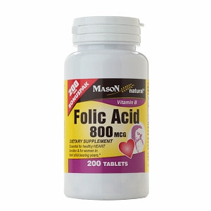 Mason Natural Folic Acid 800 mcg