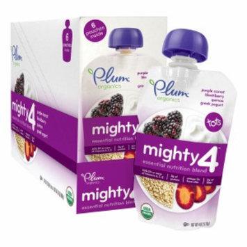 Plum Organics Mighty 4 Essential Nutrition Blend, Purple Carrot, Blackberry, Quinoa, & Greek Yogurt, 6 ea