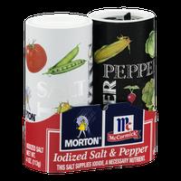 Morton McCormick Iodized Salt & Pepper - 2 CT