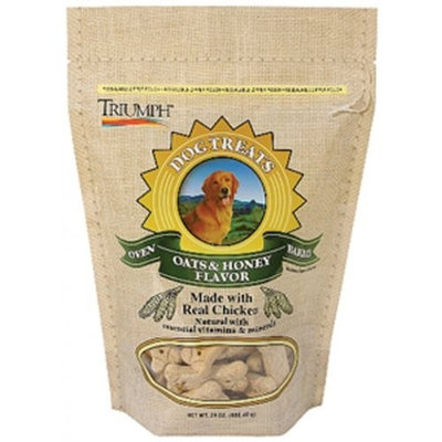Triumph pet 00335 Oven Baked Dog Treats - Oats and Honey (Case of 8)