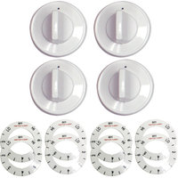 Range Kleen 32-Piece Replacement Knob Kit for 4 Knobs, Electric Ranges, White
