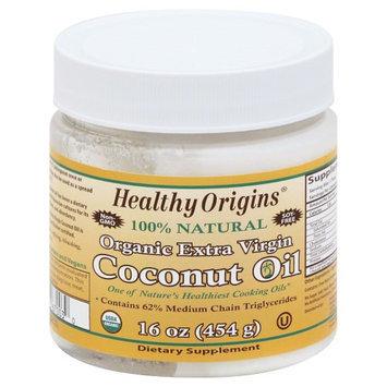Healthy Origins - Organic Extra Virgin Coconut Oil 100% Natural - 16 oz.