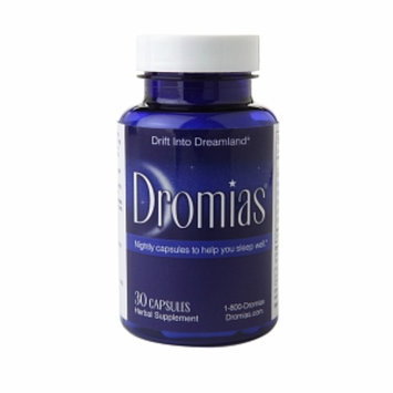 Dromias Natural Valerian & Melatonin Sleep Aid Supplement, Capsules, 30 ea