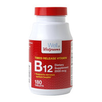 Walgreens Timed Release B-12 2000 Mcg Tablets, 180 ea
