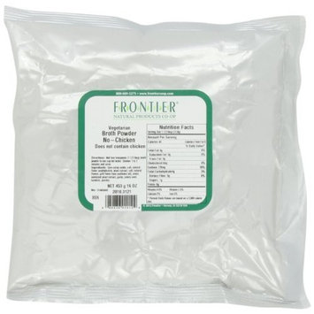 Frontier Vegetarian Chicken Flavored Broth Powder, Meatless, 16 Ounce Bags (Pack of 3)
