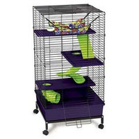 Super Pet Kaytee My First Home Deluxe Multi-Level Pet Home with Casters