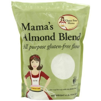 Gluten Free Mama, Mama's Almond Blend Flour, All Purpose Flour, 4 Pound Pouch (Pack of 2)