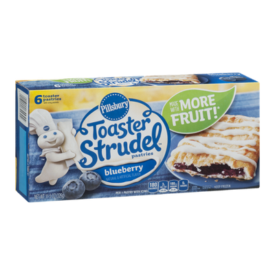 Pillsbury Toaster Strudel Pastries Blueberry - 6 CT