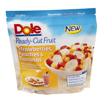 Dole Ready Cut Fruit Strawberries, Peaches & Bananas