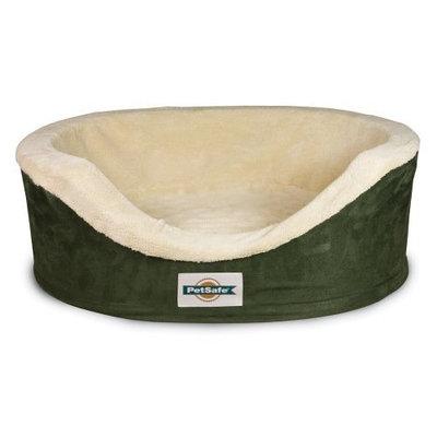 PetSafe Heated Wellness Sleeper, Small, Hunter Green/Sand