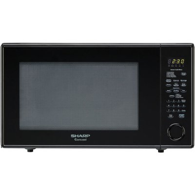 Sharp Carousel 2.2 Cu. Ft. 1200W Countertop Microwave Oven - Black