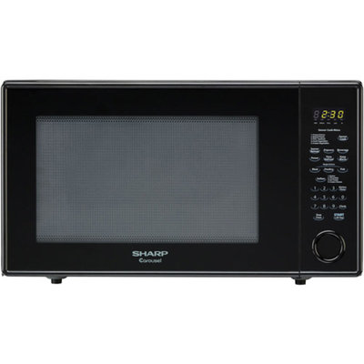Sharp Carousel 2.2 Cu. Ft. 1200W Countertop Microwave Oven - Black