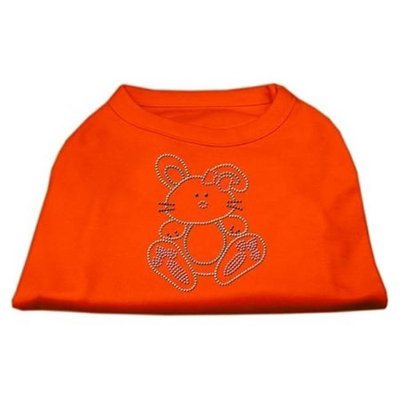 Ahi Bunny Rhinestone Dog Shirt Orange XXXL (20)