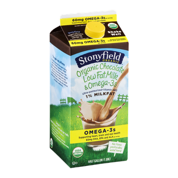 Stonyfield Organic 1% Low Fat Milk & Omega-3s Chocolate