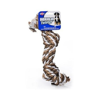 Ethical Pet Products (Spot) DSO5424 Mega Twister Heavy 4-Rope Double Knot Dog Toy, 21-Inch
