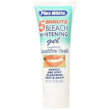 Plus White 5 Minute Bleach Whitening Gel Sensitive Teeth 3.0oz 85g