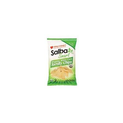 Salba Smart Organic White Corn Tortilla Chips 7.5 oz. (Pack of 12)