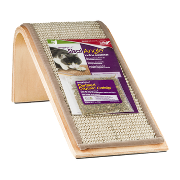 SmartyKat Sisal Angle Incline Scratcher with Certified Organic Catnip