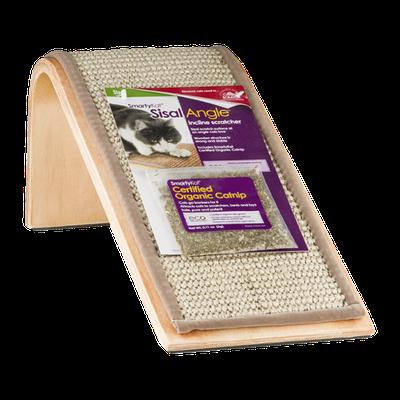 SmartyKat Sisal Angle Incline Scratcher with Certified Organic Catnip