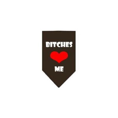 Ahi Bitches Love Me Screen Print Bandana Cocoa Large