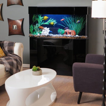 Advance Aqua Tanks Acrylic Flat-Back Hexagon Aquarium Stand, Size: 60L x 18W x 30H inches