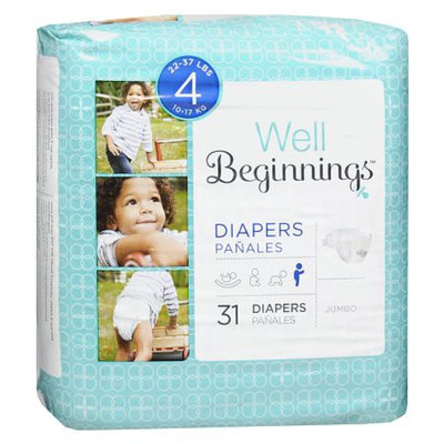 Walgreens Well Beginnings Premium Diapers Jumbo 4