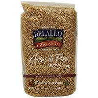 DeLallo Organic Whole Wheat Acini di Pepe #70, 16-Ounce Units (Pack of 16)