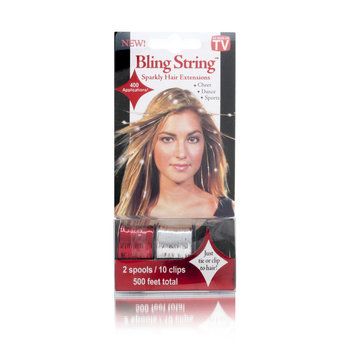 As Seen On TV BLINGSTRINGA Bling String Sparkly Hair Extensions - Silver / Gold / Brown