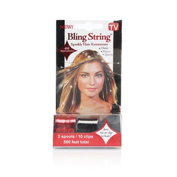 Mia Bling String - Black and Red