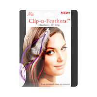 Mia Clip-In-Feathers Model No. 05308 - Purple