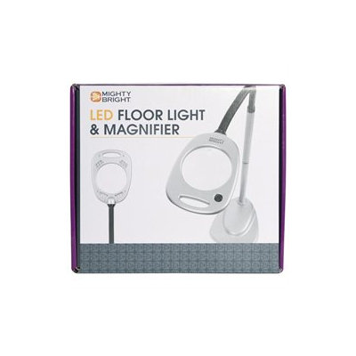 Mighty Bright LED Floor Light and Magnifier - Gray/Black