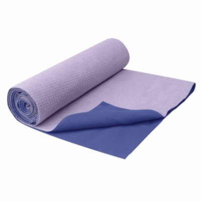 Gaiam No-Slip Yoga Towel Deep Purple, 1 ea