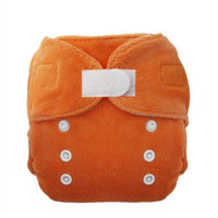 Thirsties Duo Fab Fitted Cloth Diapers, Mango, Size Two (18-40 lbs)
