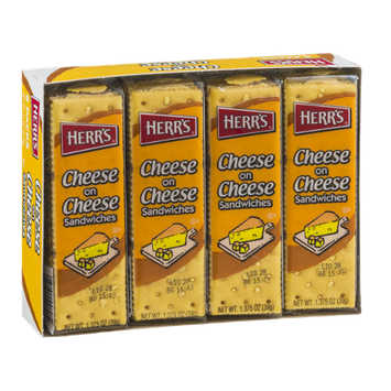 Herr's Cheese on Cheese Sandwiches - 8 CT