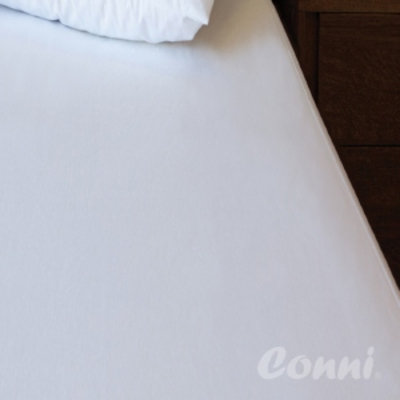 Conni Micro-Plush Fitted Sheets, White, Queen, 1 ea