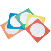Inland Pro EZ CD/DVD Color Paper Sleeves, 200-Pack