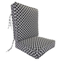 Jordan Outdoor Deep Seat & Back Cushion - Black/White Geometric