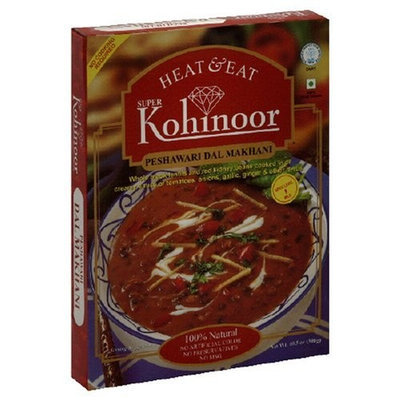 Kohinoor Heat & Eat Curries, Peshawari Dal Makhani, 10.5-Ounce Boxes (Pack of 10)