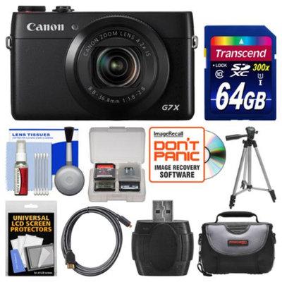 Canon PowerShot G7 X Wi-Fi Digital Camera with 64GB Card + Case + Tripod + Kit